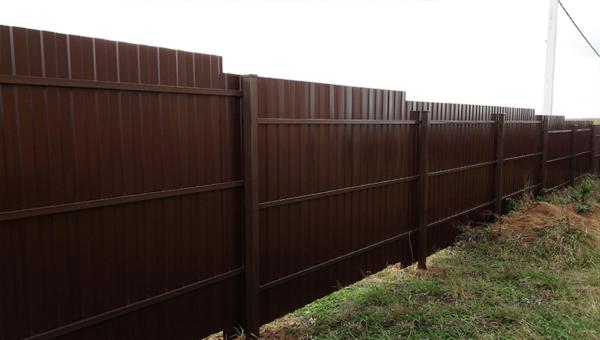 Забор из профнастила двусторонний